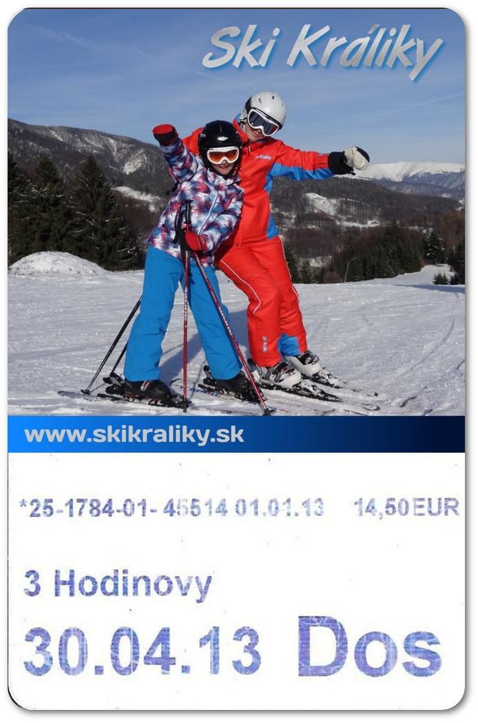 skipas lyžiarske stredisko SkiKráliky